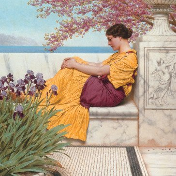 Oil painting reproductions - John William Godward: The Time Of Roses