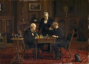 Famous paintings of Chess: The Chess Players