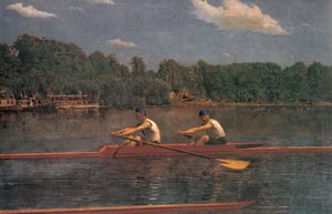 Famous paintings of Nautical: The Biglin Brothers Racing