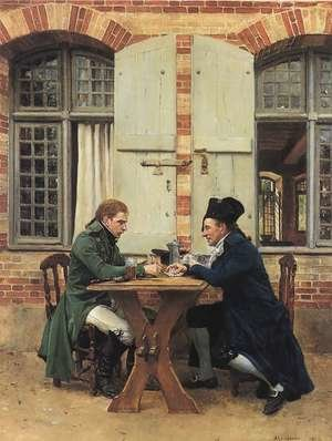 Famous paintings of Card Games: The Card Players