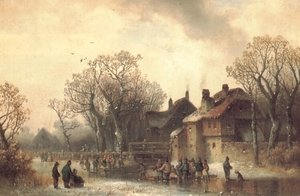 Famous paintings of Ice skating: Motiv aus Altenerding in Oberbayern