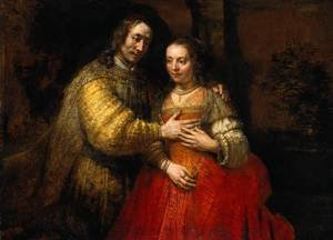 Reproduction oil paintings - Rembrandt - Portrait of Two Figures from the Old Testament, known as 'The Jewish Bride'