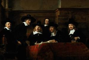 Reproduction oil paintings - Rembrandt - The Sampling Officials
