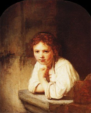 Reproduction oil paintings - Rembrandt - A Girl at a Window