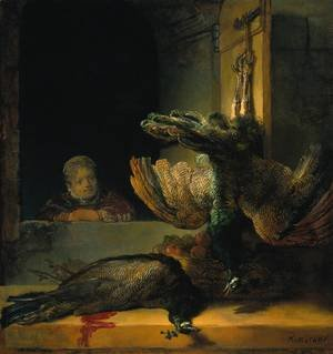 Reproduction oil paintings - Rembrandt - Dead peacocks