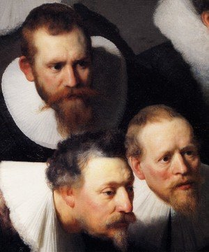 Reproduction oil paintings - Rembrandt - The Anatomy Lecture of Dr Tulp [detail #1]