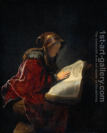 Rembrandt: The Prophetess Anna (known as 'Rembrandt's Mother') - reproduction oil painting