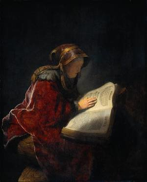 Reproduction oil paintings - Rembrandt - The Prophetess Anna (known as 'Rembrandt's Mother')