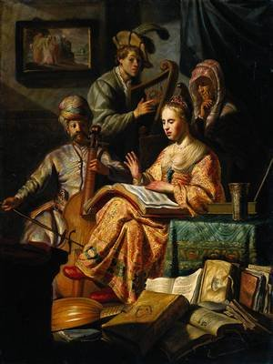 Reproduction oil paintings - Rembrandt - Musical Allegory