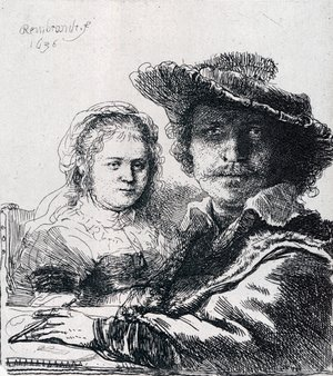 Reproduction oil paintings - Rembrandt - Self-portrait With Saskia