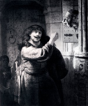 Reproduction oil paintings - Rembrandt - Samson Threatening His Father-in-Law