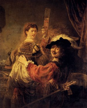 Reproduction oil paintings - Rembrandt - Self-portrait With Saskia (or The Prodigal Son With A Whore)