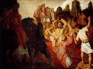 Reproduction oil paintings - Rembrandt - The Stoning Of St. Stephen