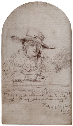Reproduction oil paintings - Rembrandt - Saskia In A Straw Hat