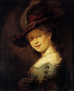 Reproduction oil paintings - Rembrandt - Saskia Laughing