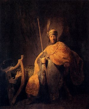 Reproduction oil paintings - Rembrandt - David Playing The Harp To Saul
