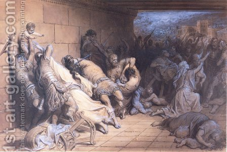 The Martyrdom of the Holy Innocents by Gustave Dore - Reproduction Oil Painting