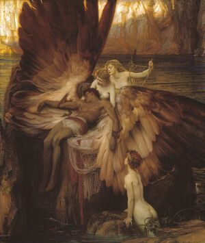 Famous paintings of Fantasy, Mythology, Sci-Fi: Lament for Icarus