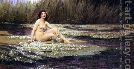 The Water Nymph by Herbert James Draper - Reproduction Oil Painting