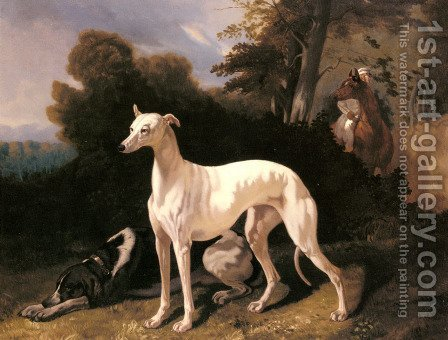A Greyhound In An Extensive Landscape by Alfred Dedreux - Reproduction Oil Painting