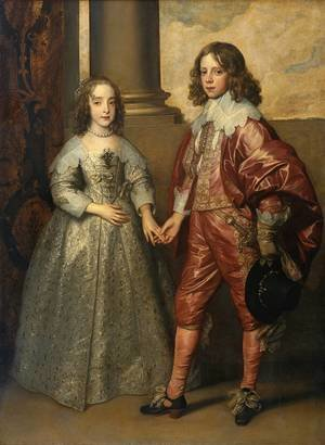 Reproduction oil paintings - Sir Anthony Van Dyck - William II, Prince of Orange and Princess Henrietta Mary Stuart, daughter of Charles I of England