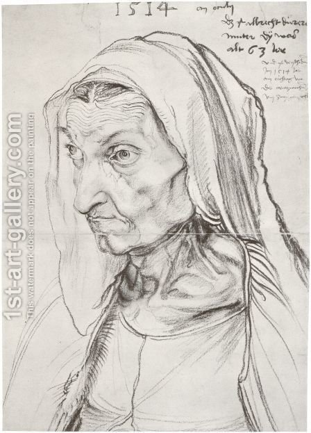 Durer's Mother by Albrecht Durer - Reproduction Oil Painting