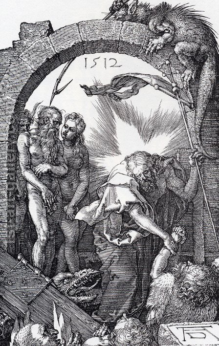 Harrowing Of Hell (Engraved Passion) (or Christ In Limbo) by Albrecht Durer - Reproduction Oil Painting