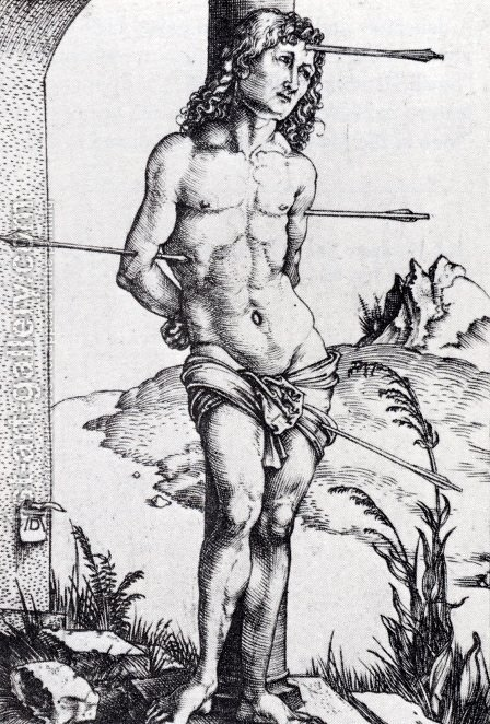 St. Sebastian At The Column by Albrecht Durer - Reproduction Oil Painting