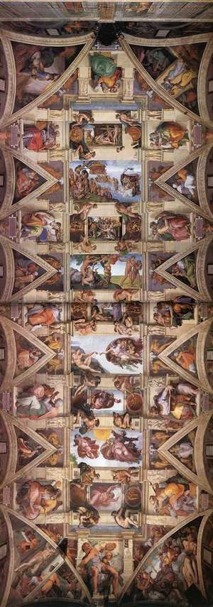 Reproduction oil paintings - Michelangelo - Ceiling of the Sistine Chapel