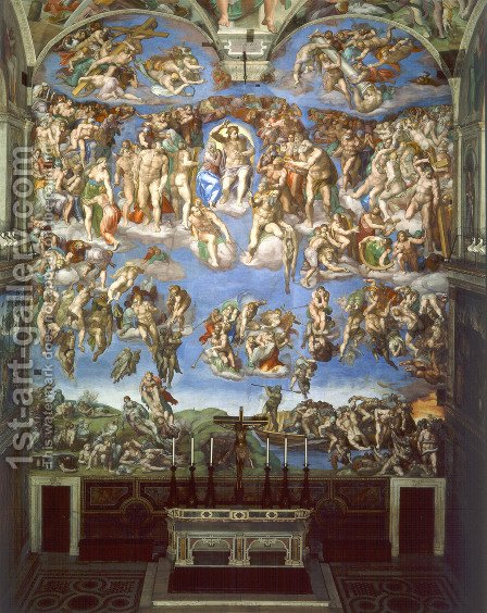 Michelangelo: The Last Judgement - reproduction oil painting