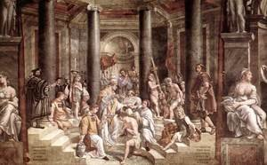 Reproduction oil paintings - Raphael - The Baptism of Constantine