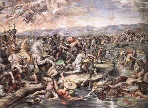 Reproduction oil paintings - Raphael - The Battle at Pons Milvius [detail: 1]
