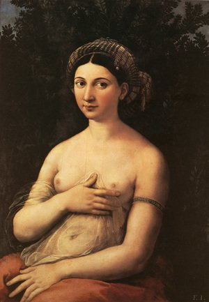 Reproduction oil paintings - Raphael - Portrait of a Young Woman (or La Fornarina)