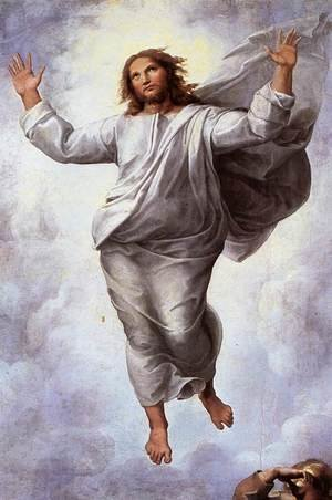 Famous paintings of Men: The Transfiguration [detail: 2]