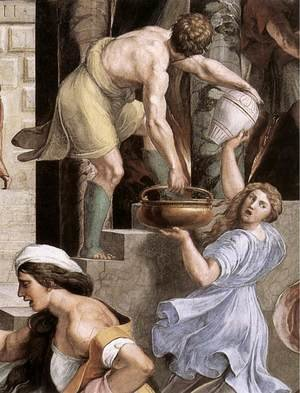 Reproduction oil paintings - Raphael - The Fire in the Borgo [detail: 2]