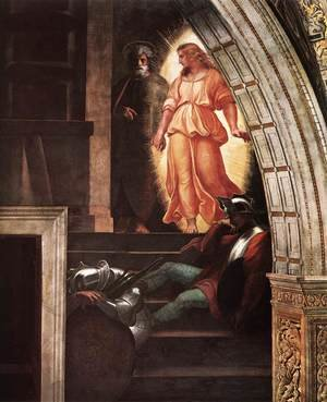Reproduction oil paintings - Raphael - The Liberation of St Peter [detail: 3]