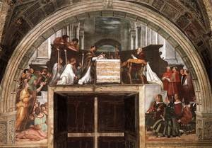 Reproduction oil paintings - Raphael - The Mass at Bolsena