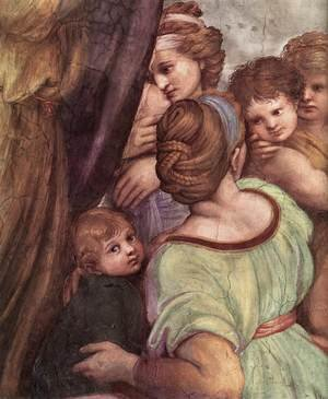 Reproduction oil paintings - Raphael - The Mass at Bolsena [detail: 4]