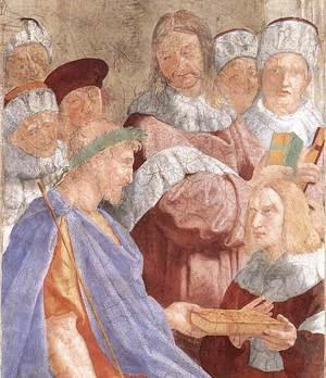 Reproduction oil paintings - Raphael - Justinian Presenting the Pandects to Trebonianus [detail: 1]