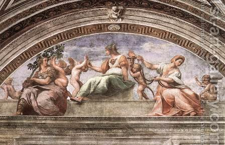 Raphael: The Cardinal Virtues - reproduction oil painting