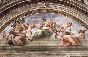 Reproduction oil paintings - Raphael - The Cardinal Virtues