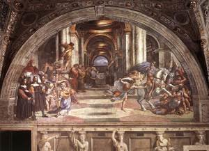 Reproduction oil paintings - Raphael - The Expulsion of Heliodorus from the Temple