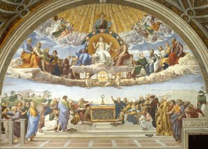 Famous paintings of Angels: Disputation of the Holy Sacrament (La Disputa)