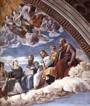 Reproduction oil paintings - Raphael - Disputation of the Holy Sacrament (La Disputa) [detail: 10]