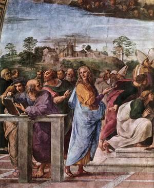 Reproduction oil paintings - Raphael - Disputation of the Holy Sacrament (La Disputa) [detail: 2]