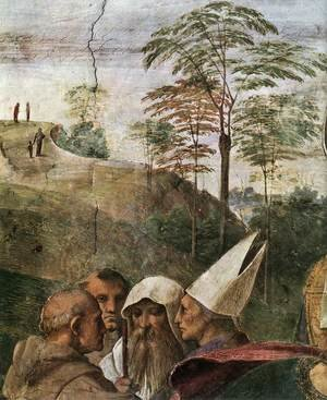 Reproduction oil paintings - Raphael - Disputation of the Holy Sacrament (La Disputa) [detail: 4]