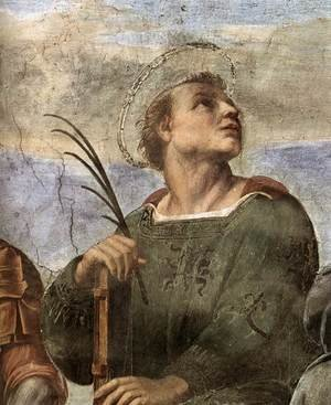 Reproduction oil paintings - Raphael - Disputation of the Holy Sacrament (La Disputa) [detail: 5]