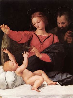 Reproduction oil paintings - Raphael - Madonna of Loreto (or Madonna del Velo)