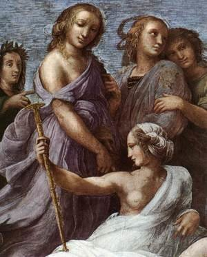 Reproduction oil paintings - Raphael - The Parnassus [detail: 1]