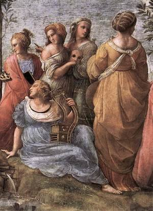 Reproduction oil paintings - Raphael - The Parnassus [detail: 3]
